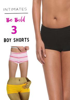 Snazzyway 3 Intimates Soft Stretchy Boyshorts