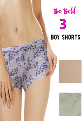 Snazzyway Comfort Cotton 3 Boyshort pack