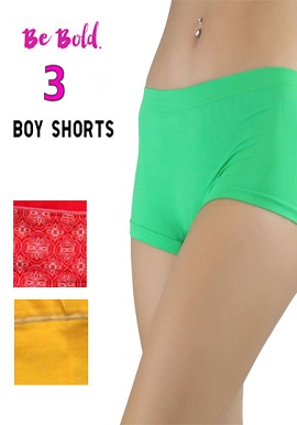 Snazzyway Women's Awesome Boyshort 3 Value Pack