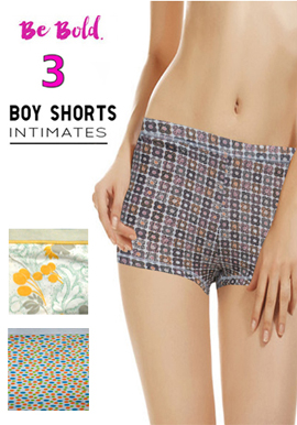 Snazzyway Women's 3 Boyshort Value Pack
