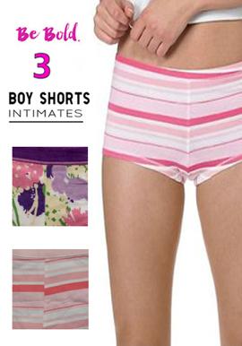 Snazzyway Women's Delightful Set of 3 Boyshort