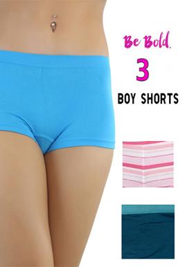 Snazzyway Wonderful pack of 3 Boyshorts