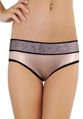 Splash VanillaSpice Shiny Waist Band White Brief