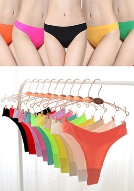 Wholesale Luxury Silky Soft Seamless Thong 10 Piece Lot