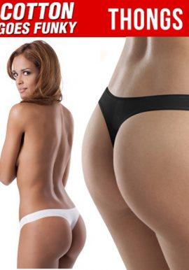 Women's Cotton Flexible Fit Two Thongs