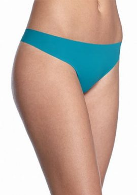 Comfort Fit Aqua Blue Invisible T-Back Thong