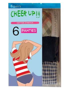 Cotton Pack Of Six Various Style Panties