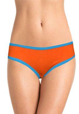 Sexy Blue Strip Back Print Bikini Brief Panty