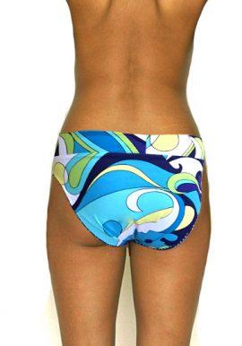 Blue Thie Printed High Rise Bikini Bottom