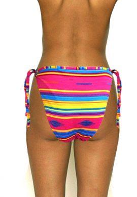 Coconut Multicolor Blocked String Bikini Bottom