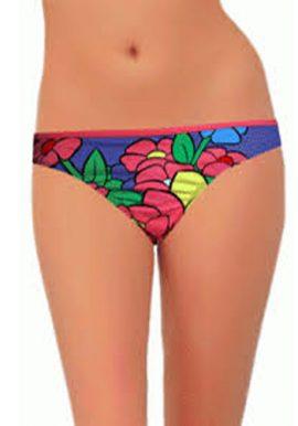 Disney Floral Print Multi Color Bikini Bottom