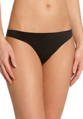 Wannabee Smooth Comfy Black Thong Panty