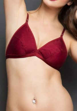 Body Art Maroon Sexy Wider Plus Size Bra