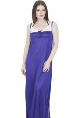 Comfy Blue Women's Full Length Nightgown