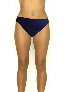 Now Plain Dark Blue Swim Bikini Bottom In XL