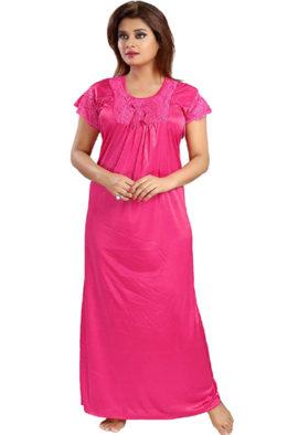 Snazzyway Soft Dark Pink Full Length Nighty