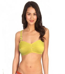 Snazzyway Fancy Lemon Green Demi Cup Cotton Bra(Pk Of 2)