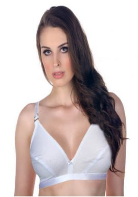 Snazzyway White Shinny Adjustable full Coverage Bra(Pk Of 2)