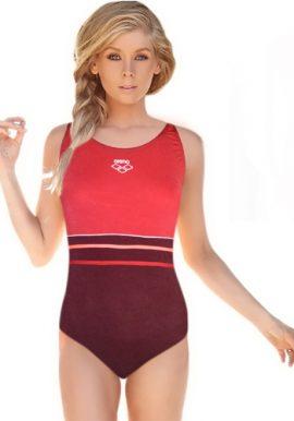 Arena Plain Keyhole Back One Piece Swimsuit