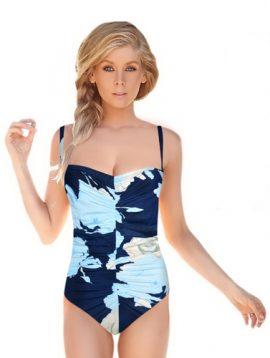 Glumann Beautiful Bold Floral Print Swimsuit