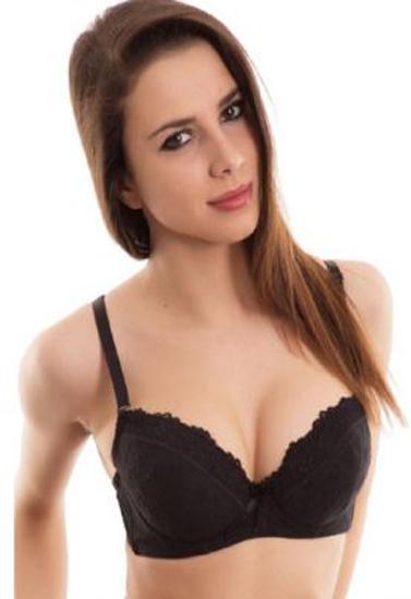50f679e01a171 Blush Full Sexy Black Net Underwired Push Up Bra