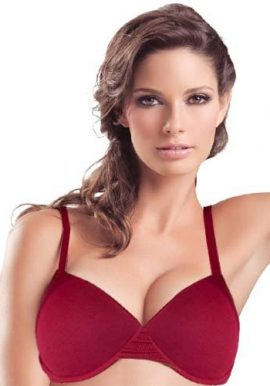 Blush Maroon Padded Underwired Push Up Bra