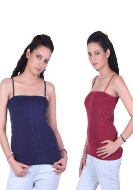 Ladies Attractive Pack Of 2 Spaghetti Tops