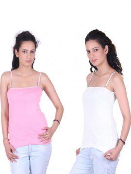 Pack Of 2 Ladies Cute Square Neckline Camisoles