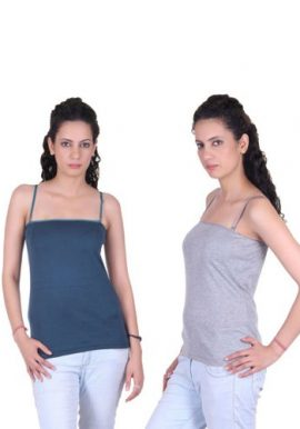 Plain Long Fitted Cami Tees Pk Of 2