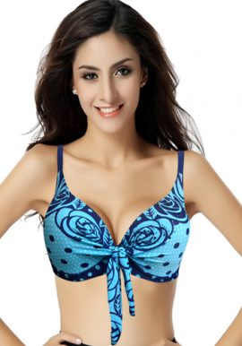 Sexkiss Cute Blue Stone With Polka Dot Classy Bra