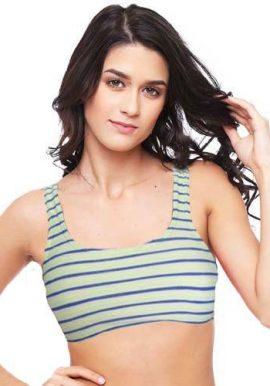 Women's Double Stripes Cute Fantasie Sports Bra