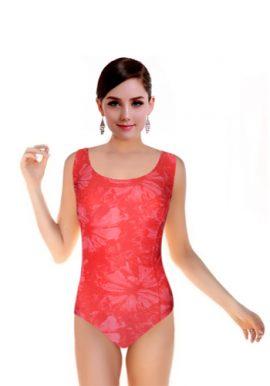 Women's Sexy Blush Red Print Swimsuit