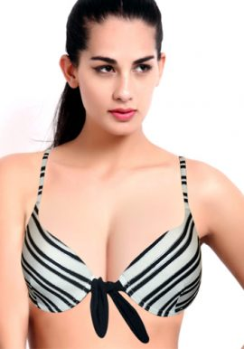 Beyond Front Open Stripes Underwired Bra