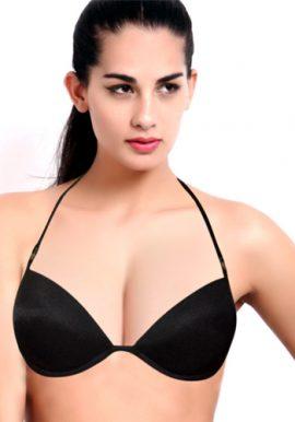 Black Sexy Demi Coverage Underwired Padded Bra