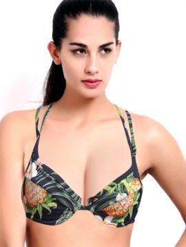 Women's Strawberry Jungle Print Multiway Bra