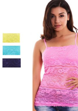 All Visible Pinkish Printed Cami Top