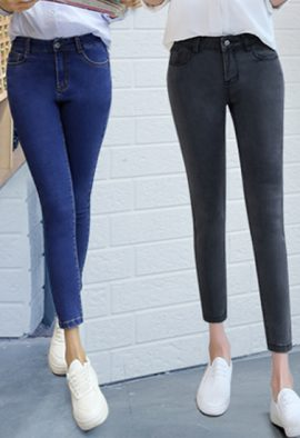 Buy Black N Blue Fashionable Denim Jeans Pack-2