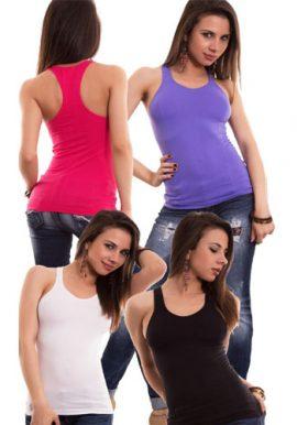 Ladies Active Workout Racerback Tank Top Pk-4