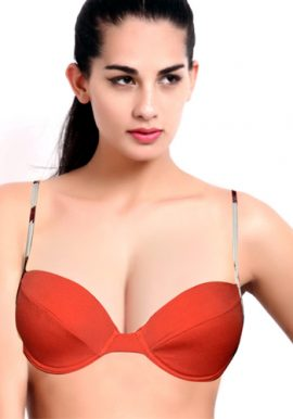 Sensuous Dark Orange Moderno Underwired Bra