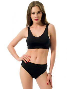 Sexy Black Tank Style Top Bikini Bottom Set