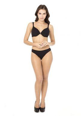 Stylish Seamless Black Push Up Bra Bikini Bottom