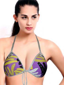 Women's Stunning Printed Halter Neck Bra