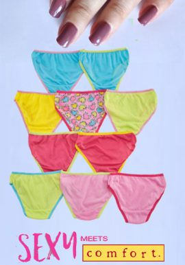 10- Pack Seamless Assorted Hipster Panties