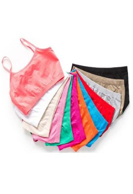 12 Essential Colorful Seamless Cami Bras