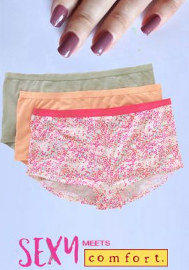 Breathable Cotton Boyshort Panties Pack Of 3