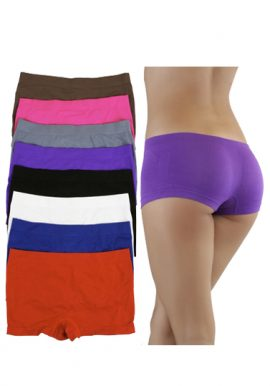 Full Coverage Plain Flexible Boyshort 8-Pack
