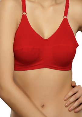 Attractive Red Comfort Soft Everyday Bra