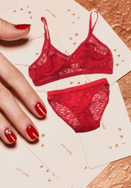Snazzyway Flirty Red Transparent Bra Panty Set