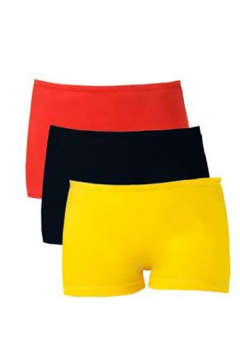 Snazzyway With Wide Stripe Boyshorts (Pk Of 3)