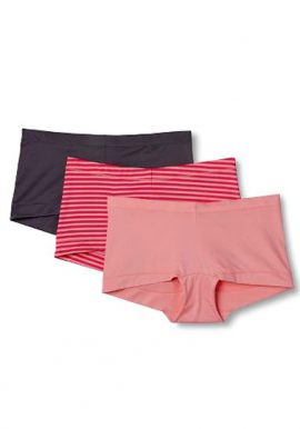 Women's Mid Rise Mixed Color Boyshort Panty (3-Pack)